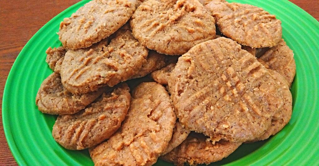 Vegan Peanut Butter Cookies on Plate